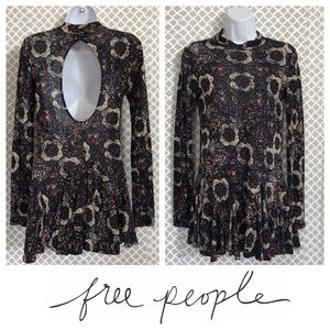 Free People open back purple tunic top or dress